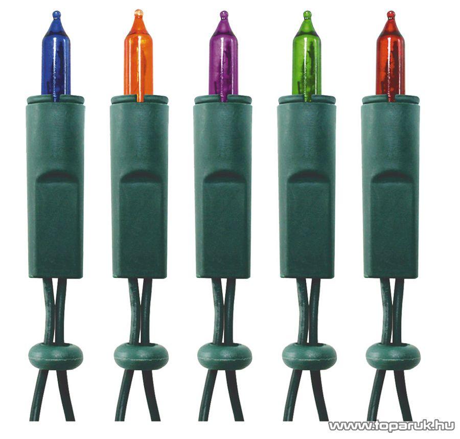 HOME KIK 80/8 Kültéri hagyományos izzós fényfüzér, 80 izzó, színes - készlethiány