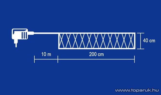 HOME KIN 150-2/CL Kültéri hagyományos izzós háló, 40 x 200 cm, fehér - megszűnt termék: 2015. november