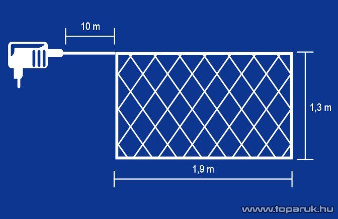 HOME KIN 176/CL Mini izzós háló, 176 db meleg fehér fényű mini izzóval - készlethiány