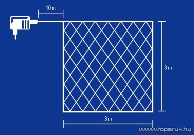 HOME KIN 180/CL Mini izzós háló, 8 programmód, 180 db fehér mini izzóval - készlethiány