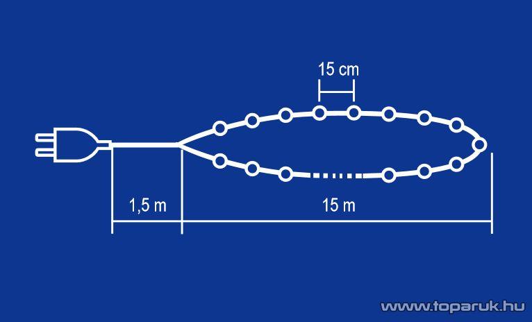 HOME KI 100/TC Hagyományos izzós fényfüzér, 100 db terrakotta izzóval