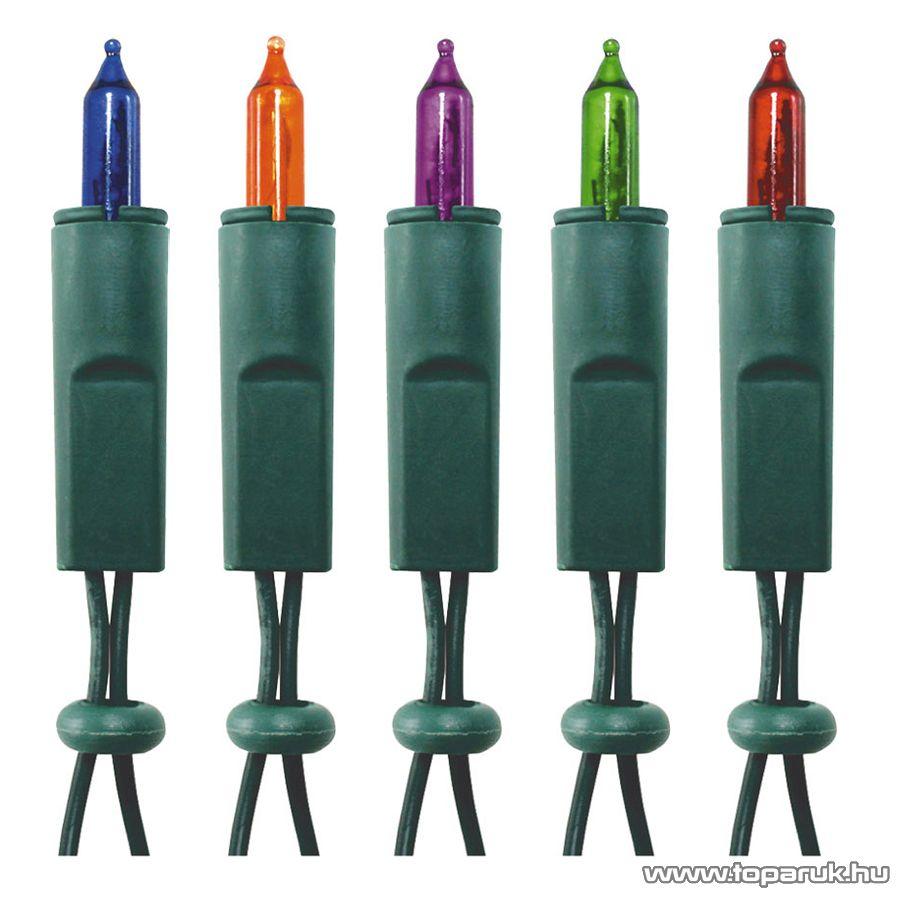 HOME KI 100 Hagyományos izzós fényfüzér, 100 db színes izzóval