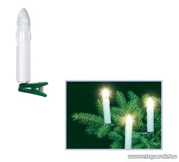 HOME KI 20H Gyertyaizzós fényfüzér, 16 db fehér izzóval - készlethiány