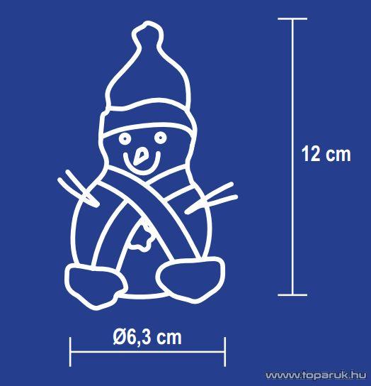 HOME KKD 106 Dekorációs lámpa, hóember, 12 cm