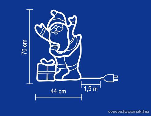 HOME KKD 502 Mikulás alakú kültéri dísz - megszűnt termék: 2015. november