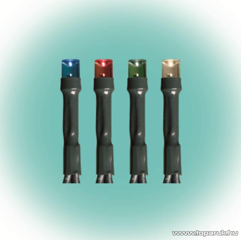 HOME KKL 100/M Kültéri LED-es fényfüzér, 7 m hosszú, 100 db multi (színes) fényű LED-del, állófényű