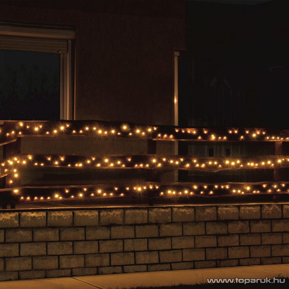 HOME KKL 200/WW Kültéri LED-es fényfüzér, 14 m hosszú, 200 db meleg fehér fényű LED-del, állófényű