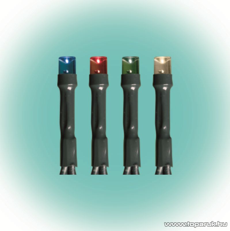 HOME KKL 500/M Kültéri LED-es fényfüzér, 35 m hosszú, 500 db multi (színes) fényű LED-del, állófényű