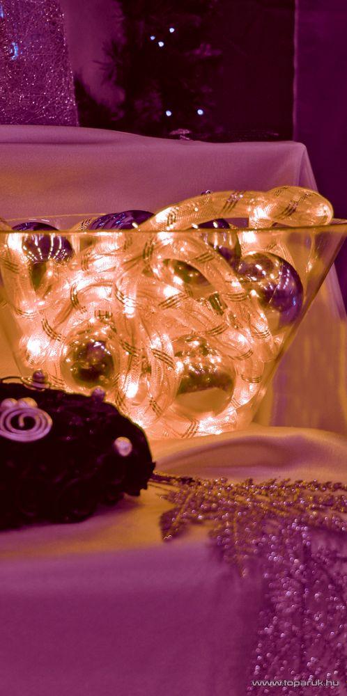 HOME KNT 80/YE Álló fényű világító cső (izzósor), 5 m hosszú, sárga színű műanyag hálóban - megszűnt termék: 2014. november
