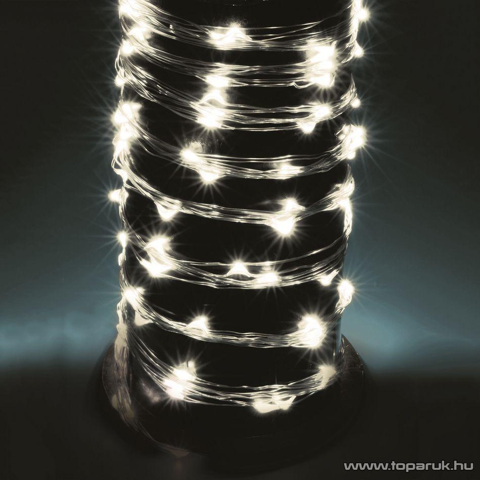 HOME ML 200/WH 10 ágú, 200 db Micro LED-es kültéri fényfüzér köteg (fényháló), hideg fehér színű világítással