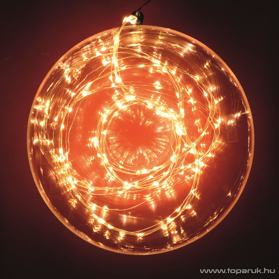 HOME ML 250/WW 10 ágú, 250 db Micro LED-es kültéri fényfüzér köteg (fényháló), meleg fehér színű világítással