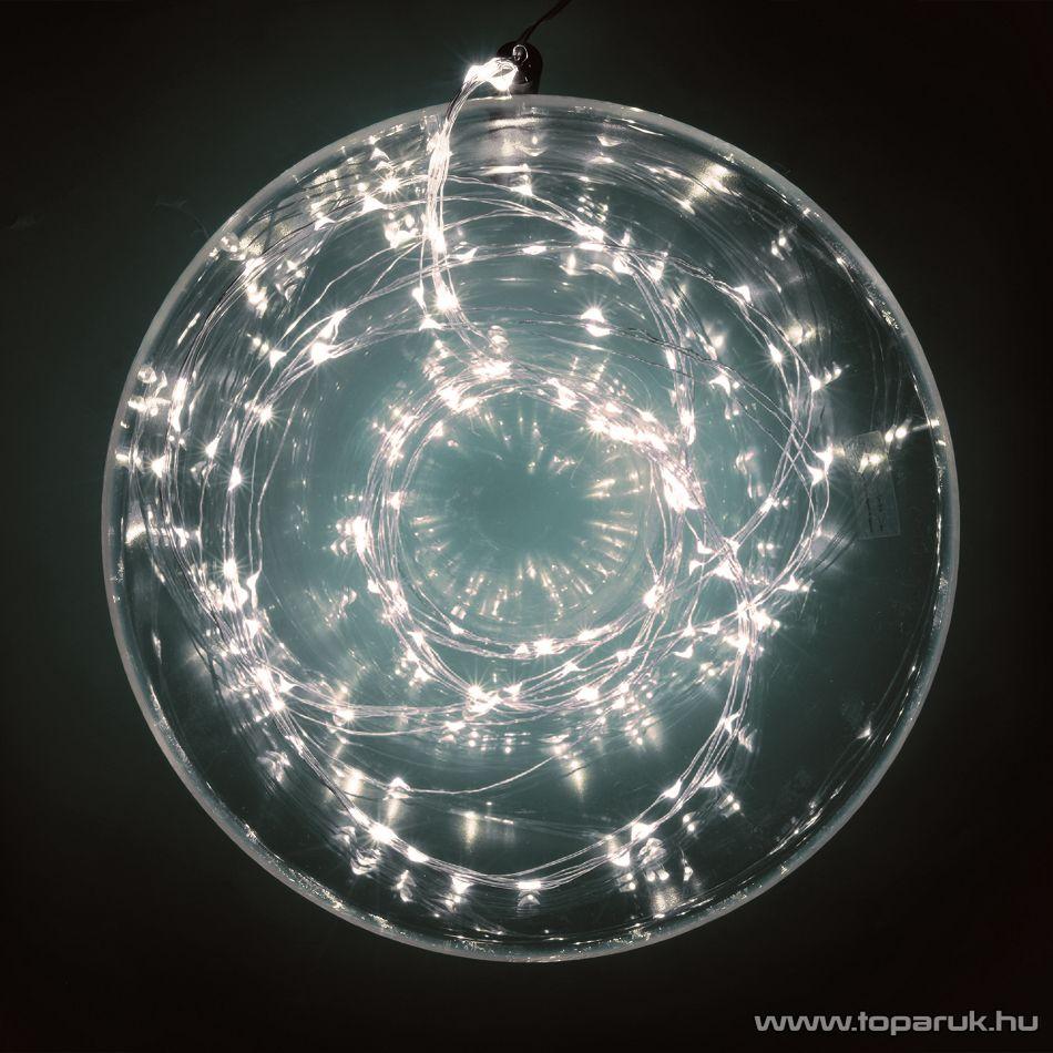 HOME ML 80/WH Kültéri 80 db fényesen ragyogó, pontszerű Micro LED-es fényfüzér, 790 cm hosszú, hideg fehér fényű világítással