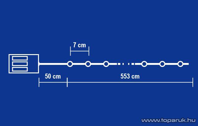 HOME MLC 88/BL Kültéri LED-es programozható mini fényfüzér, kék