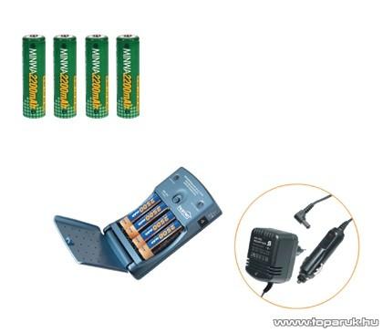 HOME MW 1270/22 Akkumulátortöltő Ni-Cd és Ni-Mh akkuk töltésére + 4 db AA ceruza akkumulátor