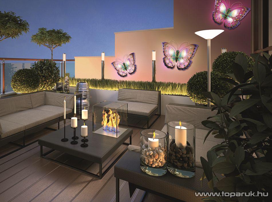 HOME MX 801 LED-es napelemes szolár pillangó