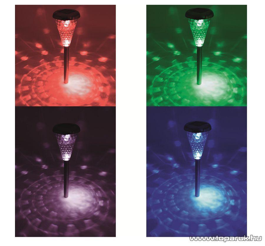 HOME MX 811/4 LED-es fém, üveg és műanyag kivitelű napelemes kerti szolár lámpa szett
