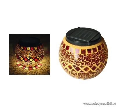 HOME MX 512/S Napelemes üvegmécses dekoráció, sárga - készlethiány