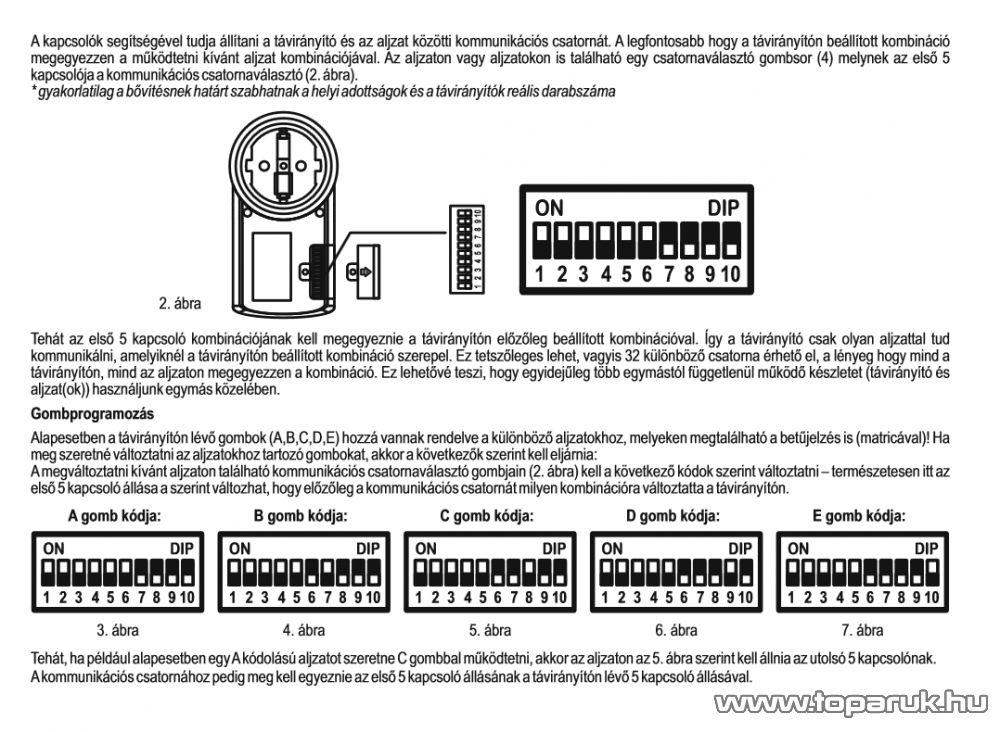 HOME TH 1 Távirányítható hálózati aljzat, 1 db aljzat