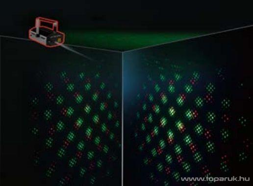 LSL DL MSC Diszkó fényeffekt Diszkó fényeffekt, lézer fényeffekt vetítő, ábra kivetítő (forgó ábrák és stroboszkóp effektus)