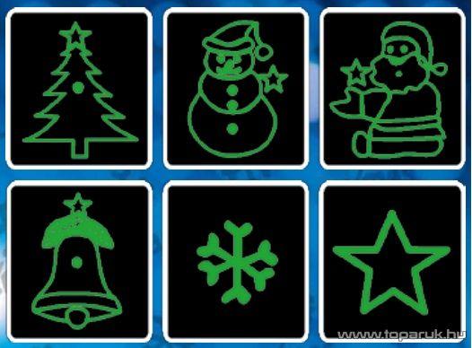 LSL DL XMS Karácsonyi fényeffekt, lézer vetítő, Karácsonyi és csillag fényeffekt, ábra kivetítő