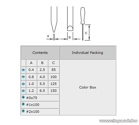 Pro's Kit 8PK-8100 Szigetelt nyelű csavarhúzókészlet, 7 részes