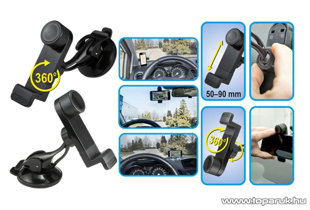 SAL SA 047 BK Tapadókorongos autós telefon tartó, fekete