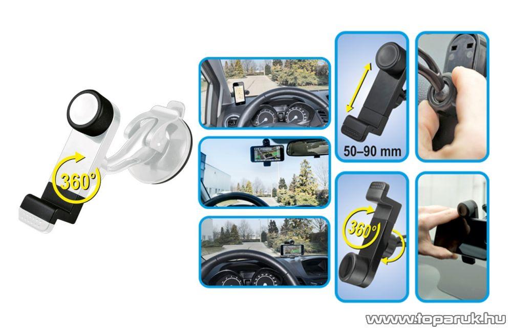 SAL SA 047/WH Tapadókorongos autós telefon tartó, fehér