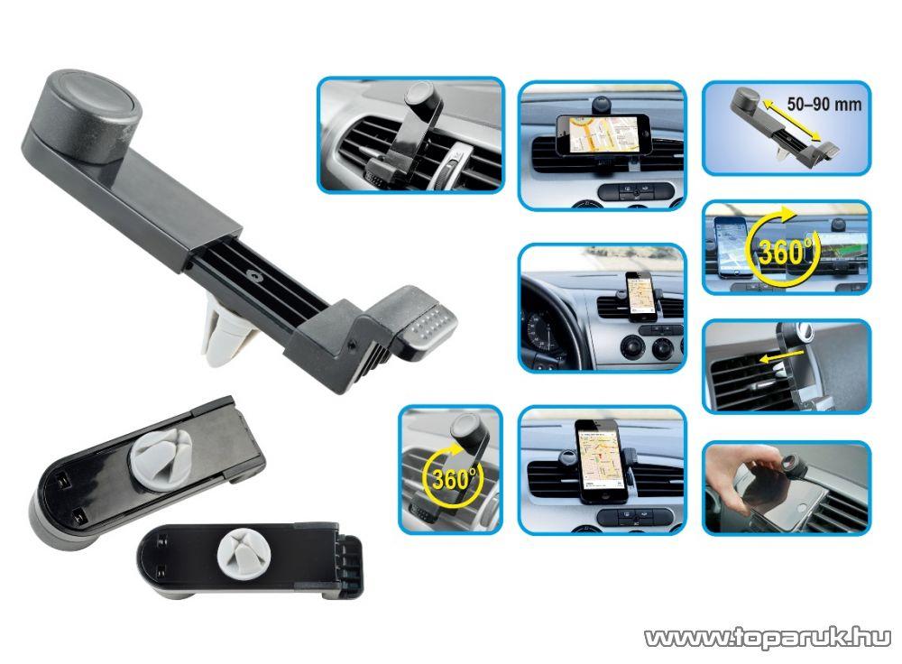 SAL SA 048 Szellőzőrácsra rögzíthető autós telefontartó, fekete