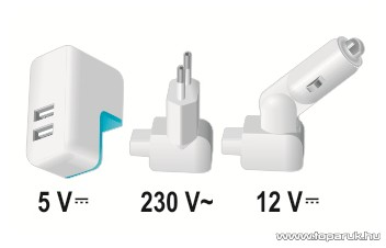 SAL SA 2100SET USB töltő szett, 2100 mA