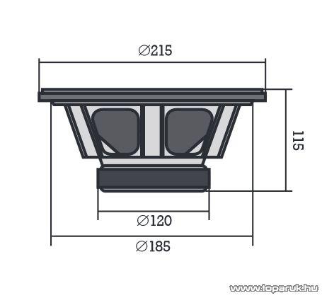 SAL XPRO 2060 Beépíthető autós mélysugárzó, 200 mm, 4 Ohm, PP, 180W-os - megszűnt termék: 2015. január