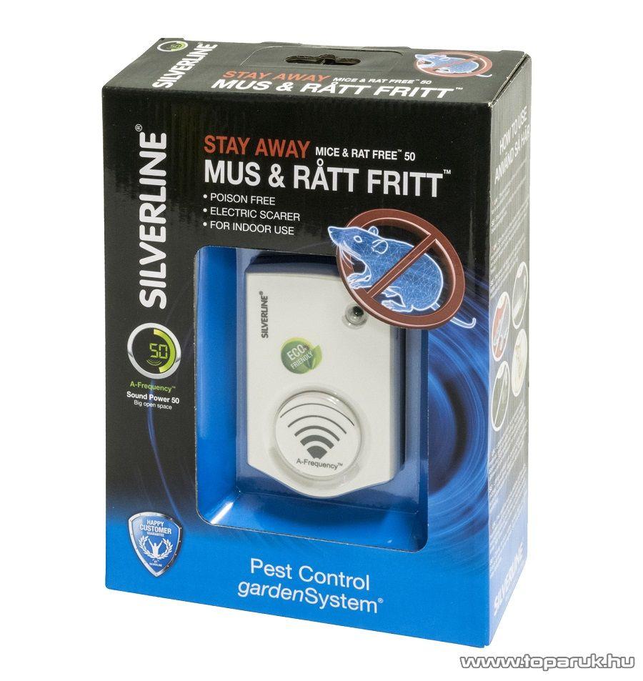 SILVERLINE IN 25101 Mice and Rat Free 50 ultrahangos egérriasztó és rágcsálóriasztó (hatótávolság: 50 m2)