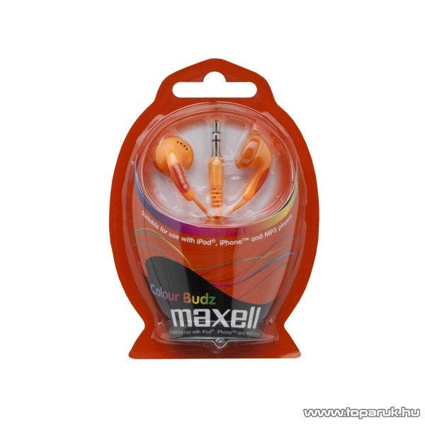 Maxell Fülhallgató, 20 - 23 000 Hz, narancs (52019)