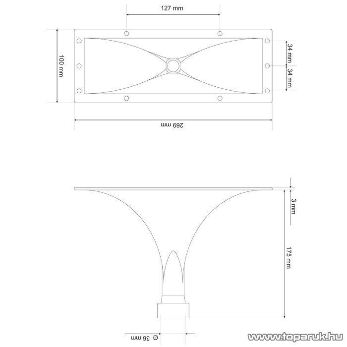 MNC Tölcsér, 270 x 100 x 175 mm (33304)