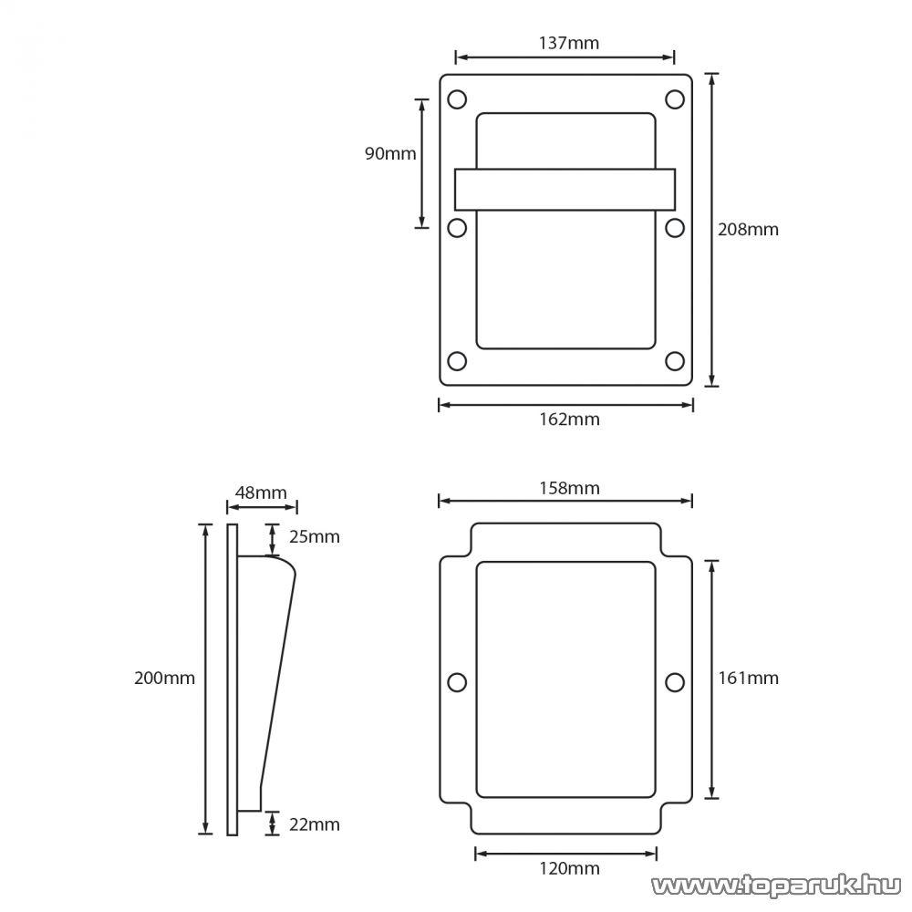 MNC Beépíthető hangfal fogantyú / hordfül, 210 x 160 x 55 mm (39403)