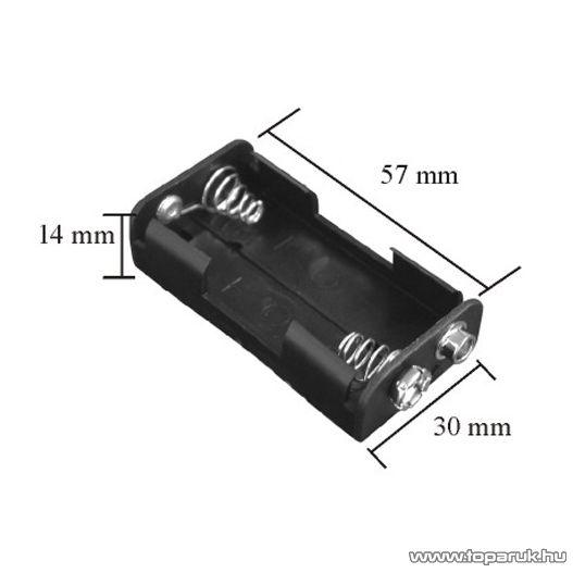 neXus Műanyag elemtartó, 2 db AA ceruzaelemhez, 10 db / csomag (05342)