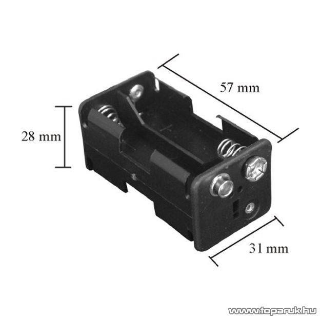 neXus Műanyag elemtartó, 4 db AA (ceruzaelemhez) 9V-os csatlakozással, 10 db / csomag (05345)