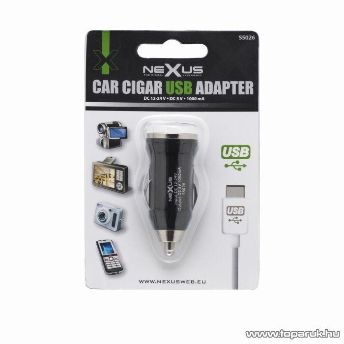 neXus Autós szivargyújtó adapter USB aljzattal (55026)