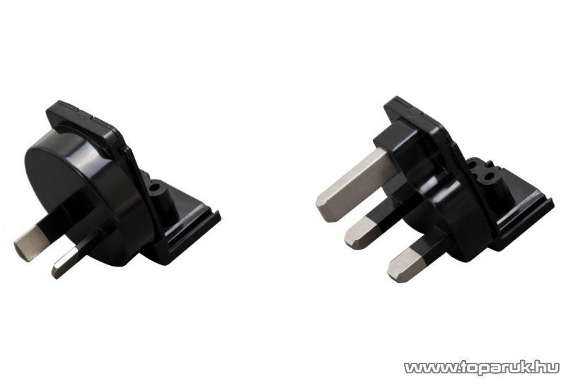 neXus Univerzális utazó adapter 2 USB aljzattal, 4 különböző hálózati és 1 szivargyújtó dugóval (55049) - készlethiány