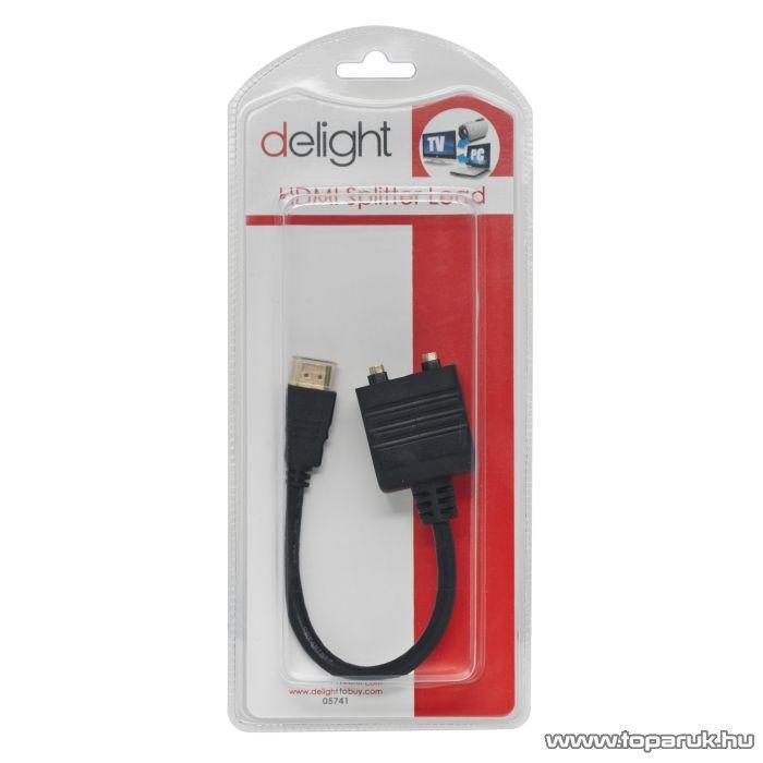 Delight HDMI elosztó, 2 x HDMI aljzat - HDMI dugó, 0,25 m (05741) - készlethiány