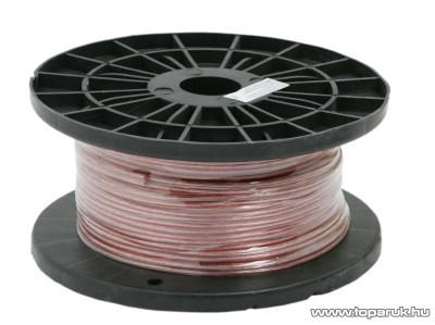 Hangszóró vezeték 2 x 0,75 mm² 50 m/műanyag dob (20007)