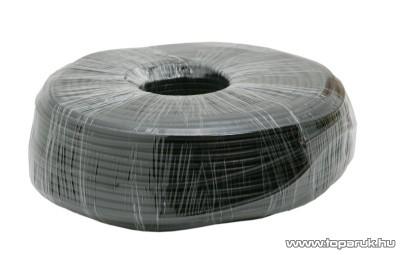 Koax kábel, RG 58, 50 ohm, fekete, 100 m/tekercs (20008)