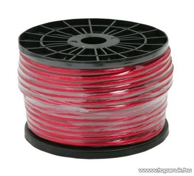 Táp vezeték, 8 Gauge / 8,4mm2, piros, 50 m/műanyagdob (20050)
