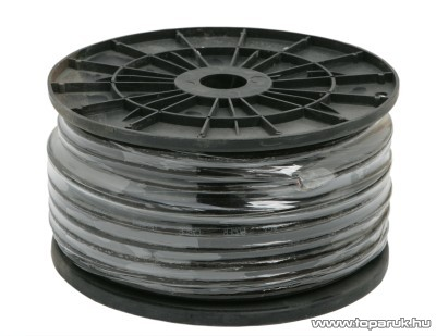 Táp vezeték, 6 Gauge / 13,3mm2, fekete, 50 m/műanyagdob (20053)