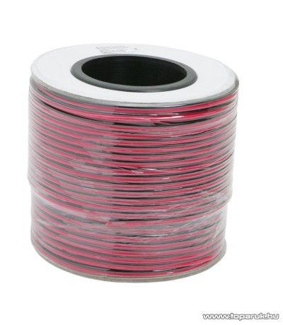 Hangszóró vezeték, 2 x 1,00 mm2, 100 m/papírdob (20084)