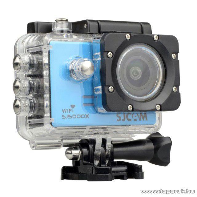 SJCAM SJ5000X ELITE WiFi sportkamera (4K-s kalandkamera) vízálló házzal, kék