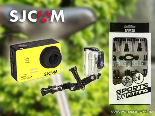 SJCAM gyári kalandkamera / sportkamera felfogató kiegészítő szett, minden típushoz