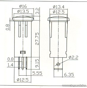 Jelzőfény, 12V, narancs, 10 db / csomag (07921NA)