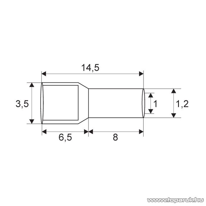 Érvéghüvely, 0,75 mm2-es vezetékekhez, szürke, 100 db / csomag (05499)