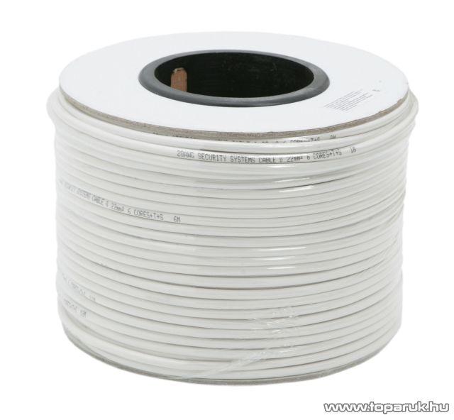 Riasztó vezeték, 10 x 0,22 mm, 100 m/papírdob (20074)