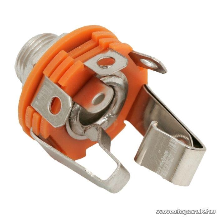 JACK aljzat, beépíthető, sztereo, 6,3 mm, 10 db / csomag (05130)